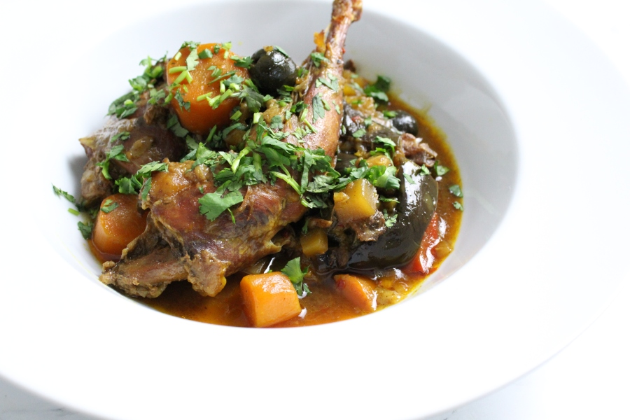 Pheasant & Apricot Tagine with BlackOlives