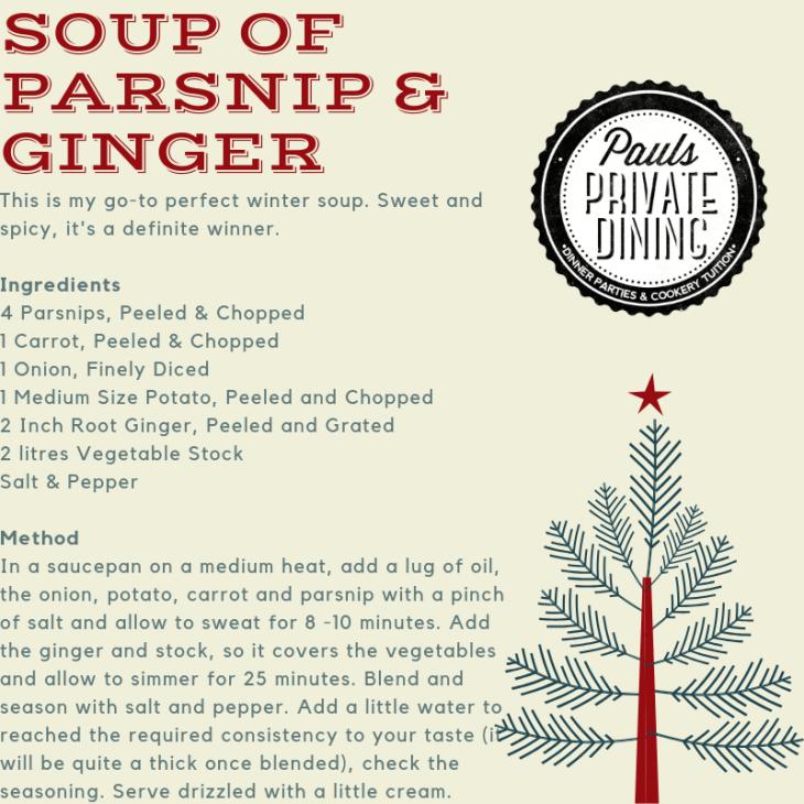 Parsnip & Ginger Soup